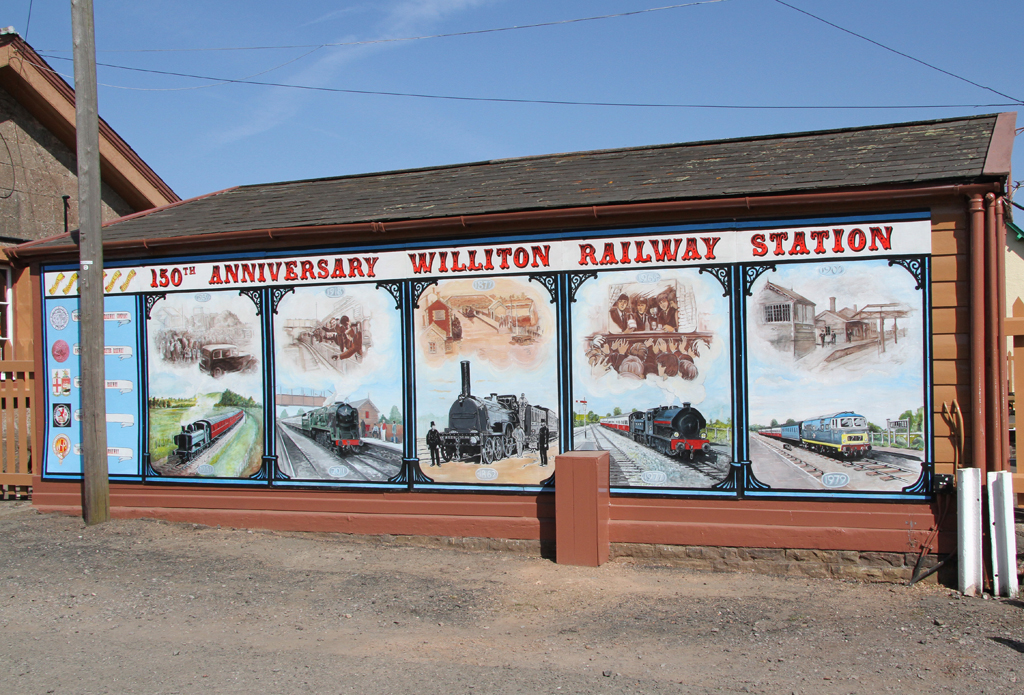 2012 - Williton Station Mural to celebrate the 150th Anniversary of the opening of the Station in 1862 seen on 31 March. © (cc) Martin Hope