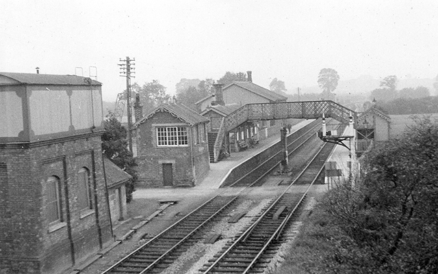 c1961 - A view of Williton Station taken from the road bridge. ©Ian Bennett on behalf of M E J Deane.