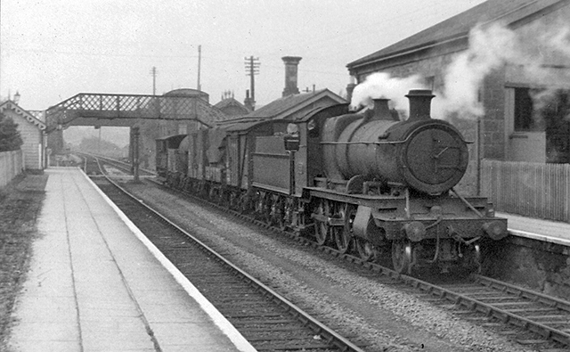 c1961 - A local goods train at Williton Station. ©Ian Bennett on behalf of M E J Deane.