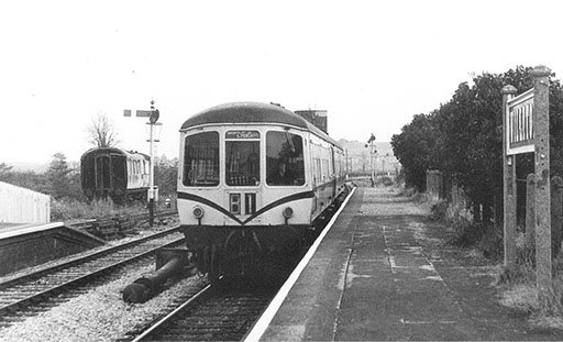 1981 - 07.30 Minehead to Williton Early Bird DMU on 1 September. This work is licenced under a Creative Commons Licence. ©Steve Edge