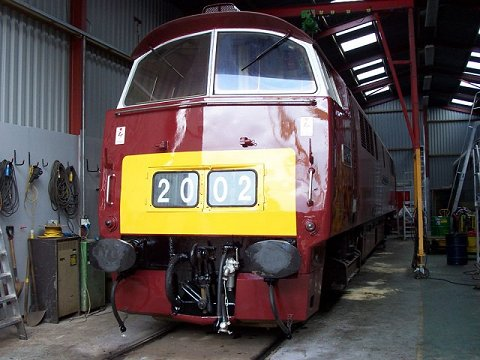 2002 - Class 52 Western Campaigner at Williton Shed in September. This work is licenced under a Creative Commons Licence. © Mike Randall