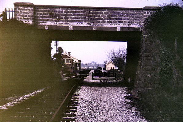1971 - Williton Station , looking north, taken sometime after the line closed.This work is licenced under a Creative Commons Licence. © Chris Osment