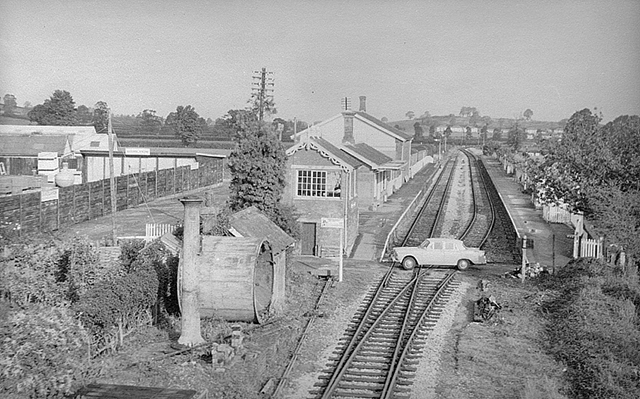 1976 - Another view of Williton station from the road bridge. ©Photographer unknown.