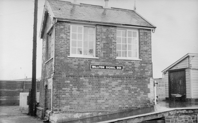 1976 -Williton Signal Box. ©Photographer unknown.