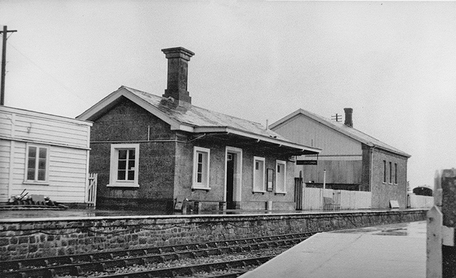 1976 - Williton Station Buildings on Platform 1. ©Photographer unknown.