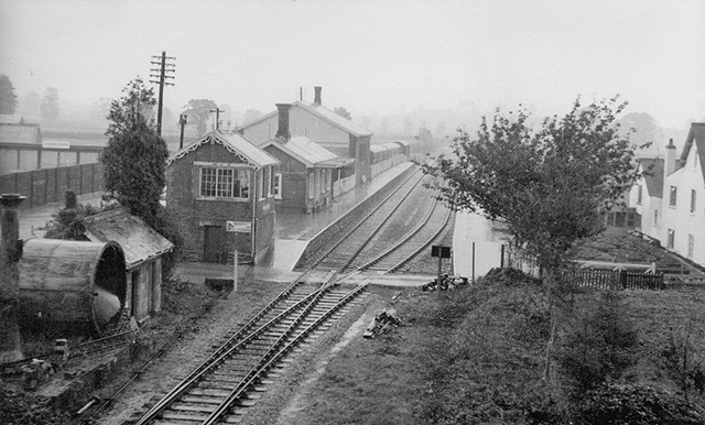 1976 - Williton Station viewed from the road bridge. ©Photographer unknown.
