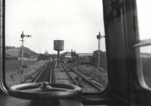 1978 - A Park Royal DMU cab view of Williton from the north in 1977 or 1978. Courtesy of Aaron Manle