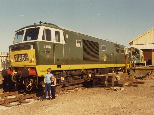 1981 - Hymek No. D7017 at Williton in 1981. This work is licenced under a Creative Commons Licence. © Mick Shackleton