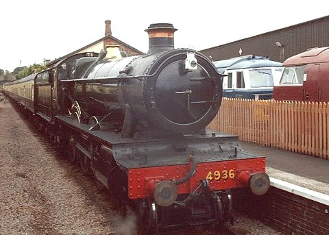 "2003 - GWR 4-6-0 No.4936 ""Kinlet Hall"" at Williton on 16 August. This work is licenced under a Creative Commons Licence. © Jon Tooke"