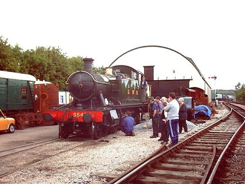 2003 - GWR Class 45xx 2-6-2T No. 5542 at Williton on 8 June. This work is licenced under a Creative Commons Licence. © Jon Tooke