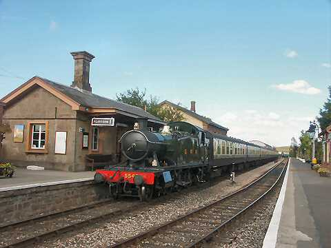2003 - GWR Class 54xx 2-6-2T No. 5542 at Williton with Driver Training Course special on 20 October. This work is licenced under a Creative Commons Licence. © Peter Darke