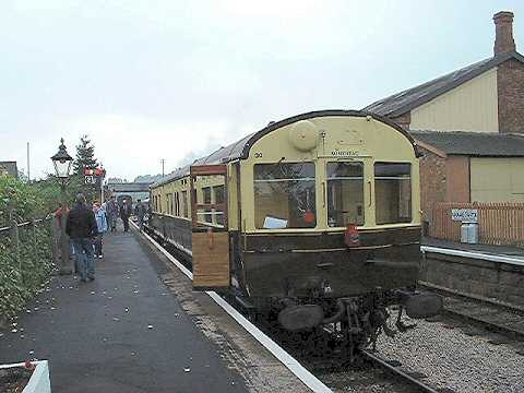 2003 - Auto train at Williton on 2 October. This work is licenced under a Creative Commons Licence. © Alan Grieve