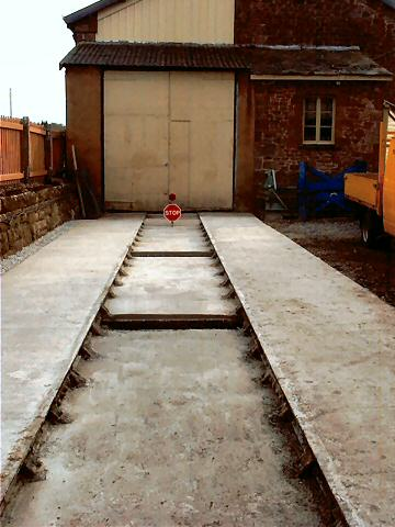 2003 - Completed concrete apron at Williton on 25 October. This work is licenced under a Creative Commons Licence. © Jon Tooke