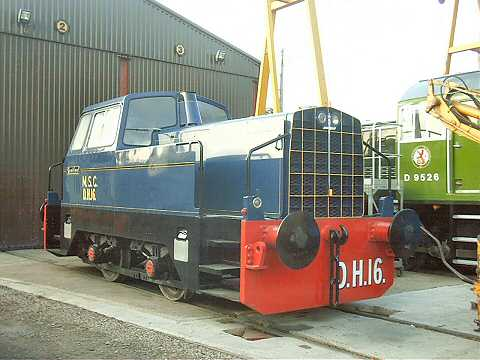 2003 - DH16 Sentinel 0-4-0 at Williton on 18 October. This work is licenced under a Creative Commons Licence. © Jon Tooke
