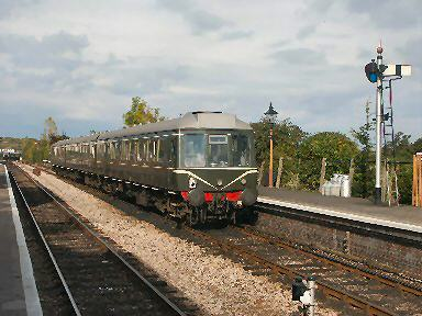 2003 - DMU at Williton on 31 October. This work is licenced under a Creative Commons Licence. © Peter Darke.