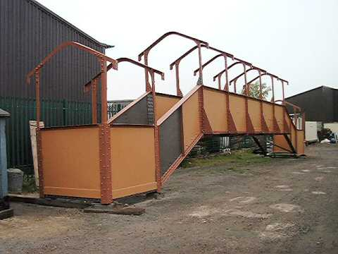 2003 - Freshly painted footbridge-in-waiting at Williton on 2 October. This work is licenced under a Creative Commons Licence. © Alan Grieve