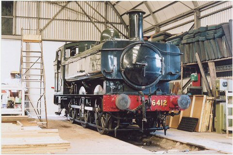 2003 - GWR 6400 Class 0-6-0 No. 6412 at Williton on 14 September. This work is licenced under a Creative Commons Licence. ©Mike Collins