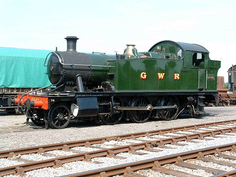 2003 - GWR Class 45xx 2-6-2T No. 5542 at Williton on 14 June. This work is licenced under a Creative Commons Licence. © Kevin Weston
