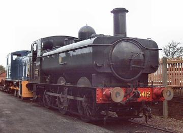 2004 - A rare visit by a steam loco at Williton South Yard - GWR 0-6-0PT No. 6412 - on 4 December. This work is licenced under a Creative Commons Licence. © Jon Tooke