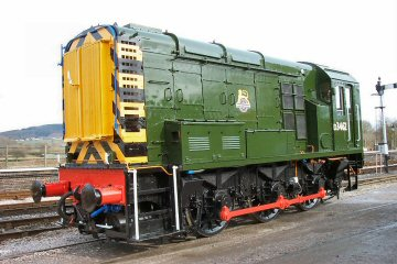 2004 - Class 08 No. D3462 enjoys the fresh air at Williton after an eight week general overhaul and repaint on 13 March. This work is licenced under a Creative Commons Licence. © Mike Randall