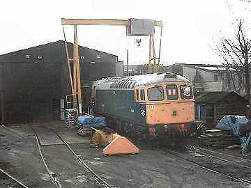2004 - Crompton No. D6366 with engine idling at Williton Diesel Depot 7 February. This work is licenced under a Creative Commons Licence. © Jon Tooke