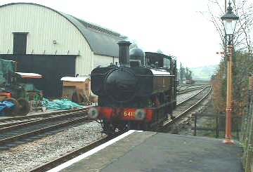 2004 - GWR 0-6-0PT No. 6412 runs round at Williton on 15 February. This work is licenced under a Creative Commons Licence. © Steve Huddy