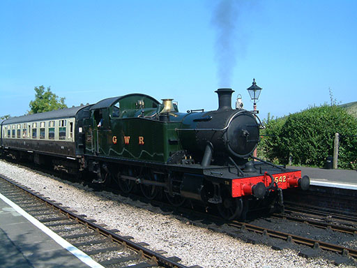 2004 - GWR 2-6-2T No. 5542 at Williton on 5 September. © Mike Dan