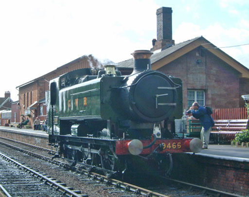2004 - GWR Class 9400 0-6-0PT No. 9466 at Williton on 2 October. 2004. © Mike Dan