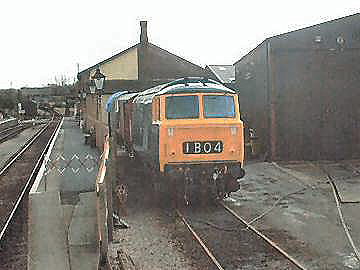 2004 - Hymek D7017 stands at Williton Diesel Depot and contemplates thrirty years on the West Somerset Railway. Picture taken on 7 February. This work is licenced under a Creative Commons Licence. © Jon Tooke