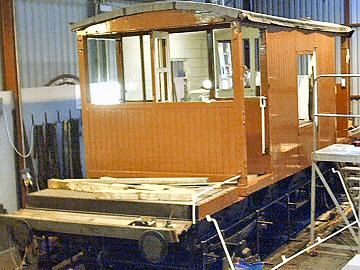 2004 - Superb workmanship is very evident as the Brake Van shines in the shed at Williton on 20 November. This work is licenced under a Creative Commons Licence. © Jon Tooke