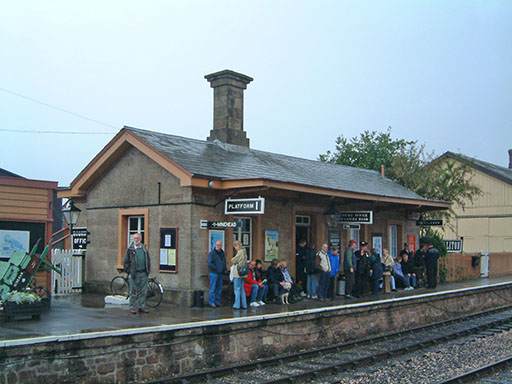 2004 - Williton Station on a wet 3 October. © Mike Dan