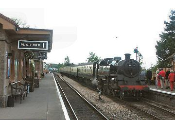 2005 - At Williton, around seventy Bicknoller folk board the steam train for a special evening excursion to Bishops Lydeard. 31 May. This work is licenced under a Creative Commons Licence. © Peter Darke