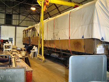 2005 - Auto Coach No. 169 waits patiently for its turn on 17 March. This work is licenced under a Creative Commons Licence. © John Wood
