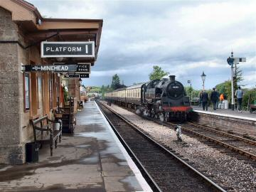 2005 - BR 2-6-4T No. 80136 arriving at Williton with the 3.55pm from Minehead on 21 May. This work is licenced under a Creative Commons Licence. © Andy Spencer