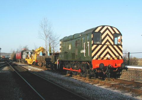 2005 - Cable train at Williton on 28 January. This work is licenced under a Creative Commons Licence. © Jon Tooke