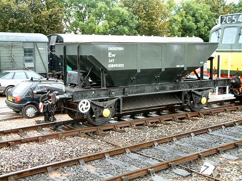 2005 - Class 25 No. D7523 shunts the recently renovated Dogfish wagon at Williton on 8 October. This work is licenced under a Creative Commons Licence. © Andy Spencer