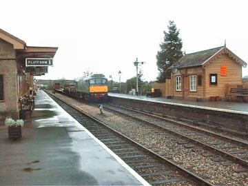 2005 - Class 25 No. D7523 with a permanant way train at Williton on 5 February. This work is licenced under a Creative Commons Licence. © Jon Tooke