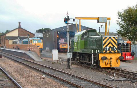 2005 - Five diesel locomotives in view at Williton on 8 October. This work is licenced under a Creative Commons Licence. © Andy Spencer