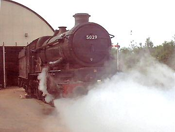2005 - GWR 4-6-0 No. 5029 Nunney Castle in steam at Williton on 11 June. This work is licenced under a Creative Commons Licence. © Jon Tooke