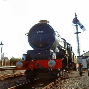 2005 - GWR 4-6-0 No. 6024 King Edward1 at Williton at the head of a 675 ton excursion from Chester on 12 March. This work is licenced under a Creative Commons Licence. © Jon Tooke