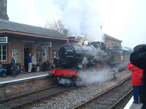 2005 - GWR 4-4-0 No.3400 City of Truro at Williton on 19 March. © Mike Dan