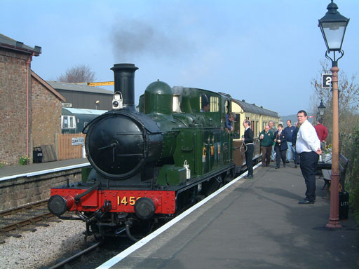 2005 - GWR 0-4-2T No.1450 with Autotrain at Williton on 20 March. © Mike Dan