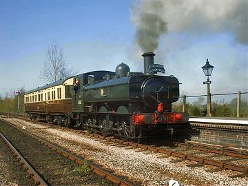 2005 - GWR 0-6-0 No. 6412 with the Auto Train charter at Williton on 16 April. This work is licenced under a Creative Commons Licence. © Jon Tooke
