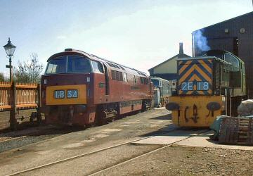 2005 - Hydraulic lineup - D1010, D7018 and D9526 - at Williton on 16 April. This work is licenced under a Creative Commons Licence. © Jon Tooke
