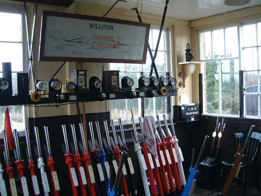 2005 - Inside Williton Signal Box on 19 January. © Mike Dan