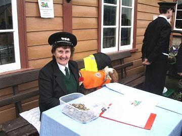 2005 - Sheila selling raffle tickets at Williton on 19 March. This work is licenced under a Creative Commons Licence. © Chris Phillips