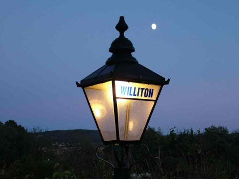 2005 - The Moon and the Lamp - beautifully captured at Williton on 12 November. This work is licenced under a Creative Commons Licence. © Keith Bird