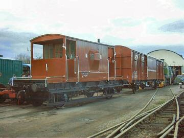 2005 - The newly refurbished brakevan is wheeled out into the yard for the first time looking splendid in ex-works condition on 19 February. This work is licenced under a Creative Commons Licence. © Jon Tooke