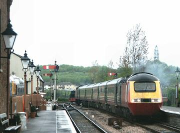 2005 - Whilst on a test run the HST arrives at Williton on 26 April. This work is licenced under a Creative Commons Licence. © Peter Darke