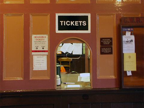2005 - Williton Booking Office on 22 October. This work is licenced under a Creative Commons Licence. © Mike Dunse